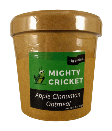 High Protein Apple Cinnamon Oatmeal Mighty Cricket Powder