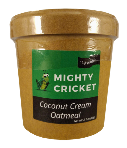 High Protein Coconut Cream Oatmeal Mighty Cricket Powder