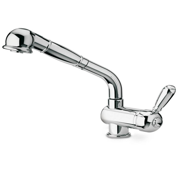 LaToscana-faucet-Antique-single-handle-pull-out-spray-kitchen-Chrome-Brushed-Nickel-64PW566ANT