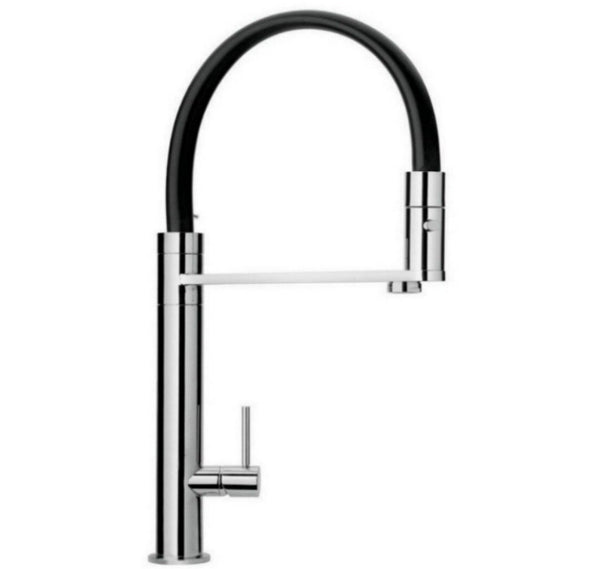 LaToscana-Elba-single-handle-pull-out-spray-kitchen-faucet-Chrome-Brushed Nickel-78CR559YOSS