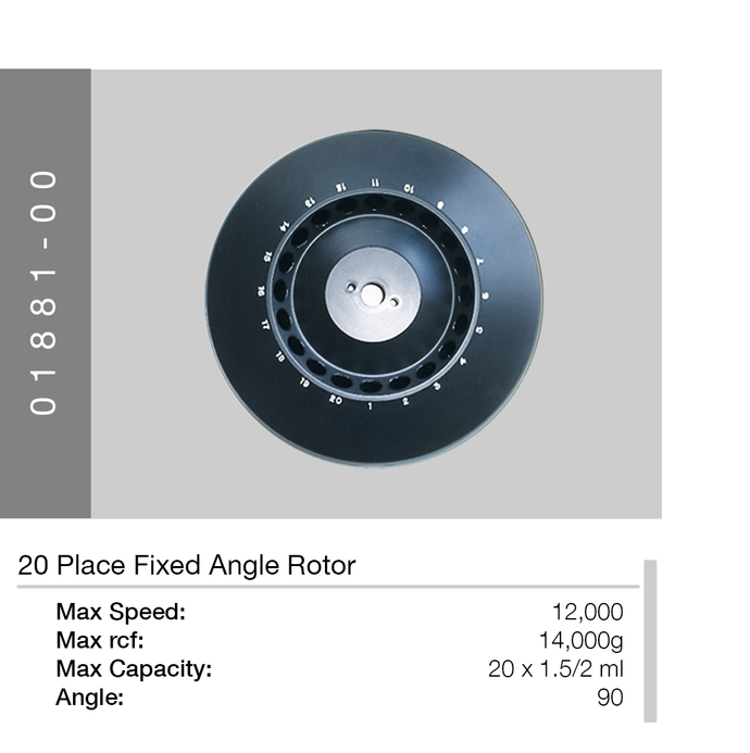 20 Place Fixed Angle Rotor | Hawksley