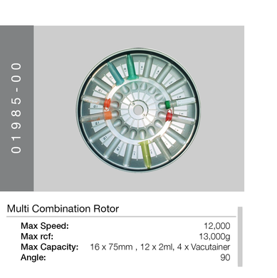 Multi Combination Rotor for Centrifuges | Hawksley