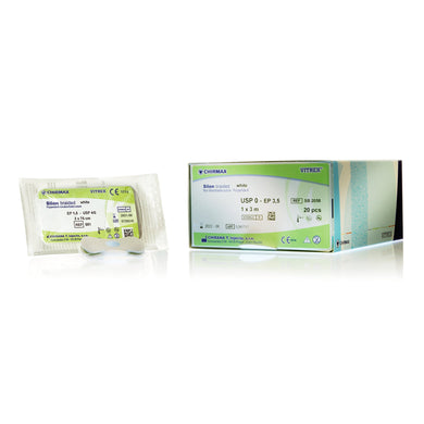 Silon Braided White Surgical Sutures | Non-Absorbable | Hawksley