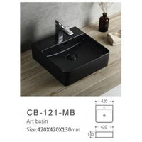 Global Above Counter Basin | CB-121-MB - Global Builders Warehouse