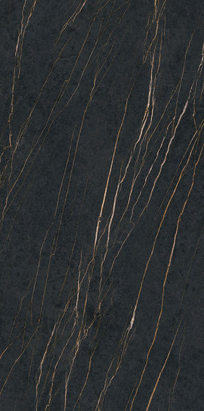 Sintered Stone | Large Format Slab Panel | 1600x3200x12mm | Noir Gold - Global Builders Warehouse