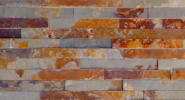 Rusty Charcoal Stack  Stone | 150x600mm - Global Builders Warehouse