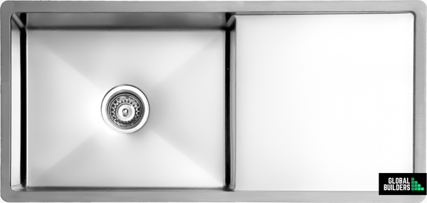 Global Single Bowl Sink with Drain Board | 950x450x205 | SNA01009 - Global Builders Warehouse