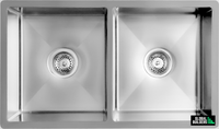 Global Double Bowl Sink | 775x450x205 | SNA01013 - Global Builders Warehouse