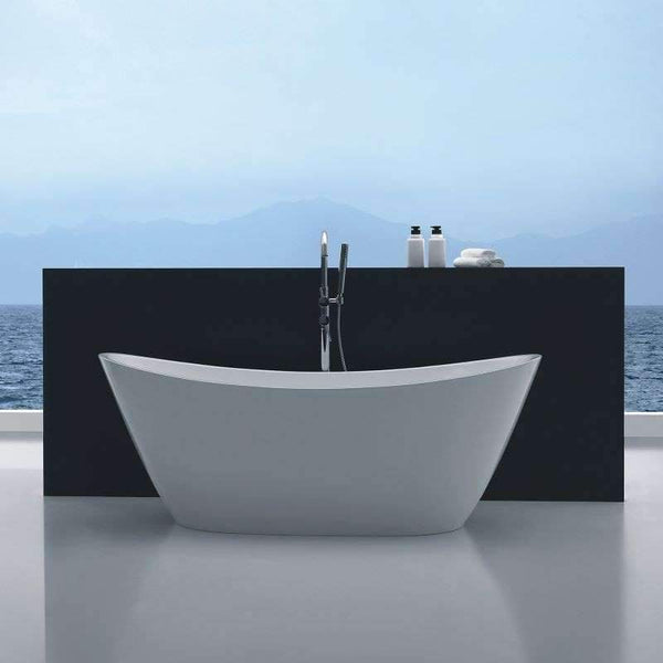 LB1011W-1700 Freestanding Bathtub |  1700x800x680mm - Global Builders Warehouse