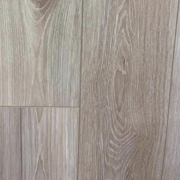 RELAX 12mm Satin Timber Laminate | 1215x166x12mm | Silver Grey Oak - Global Builders Warehouse