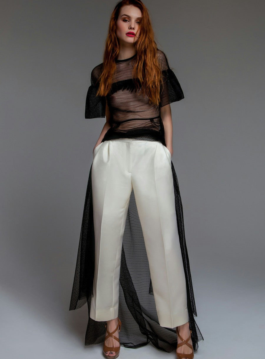 White/ivory Cropped Pants