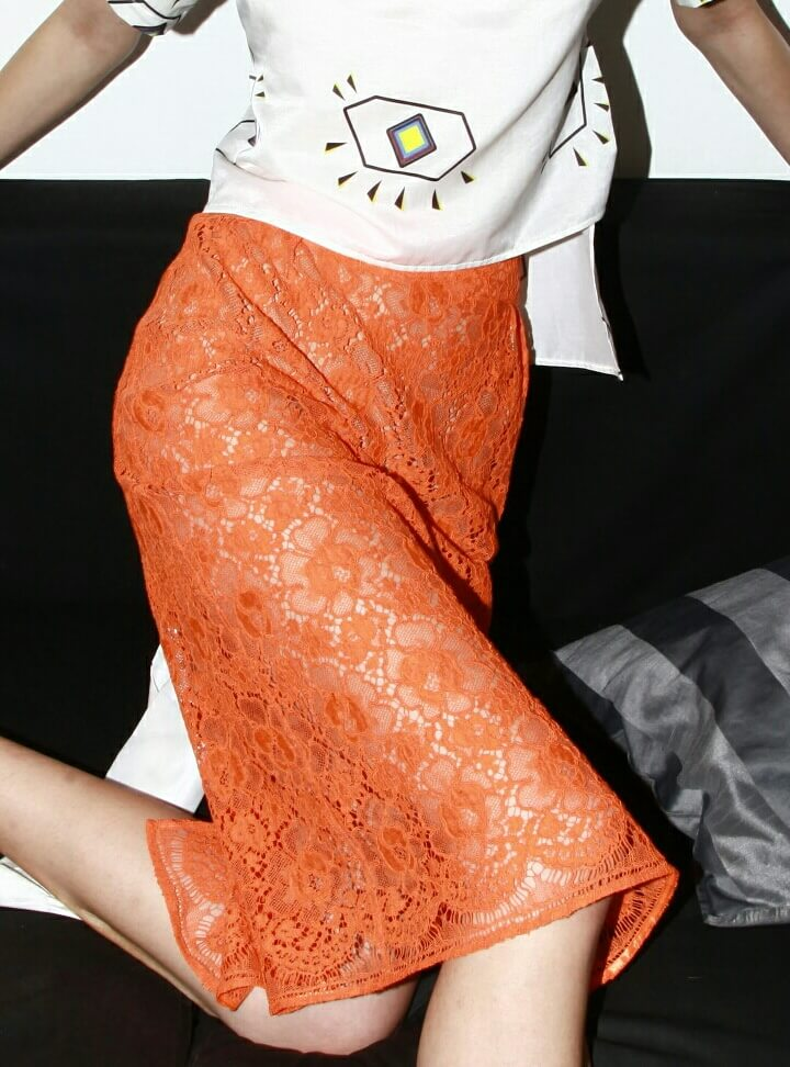 Lace Skirt (Orange)