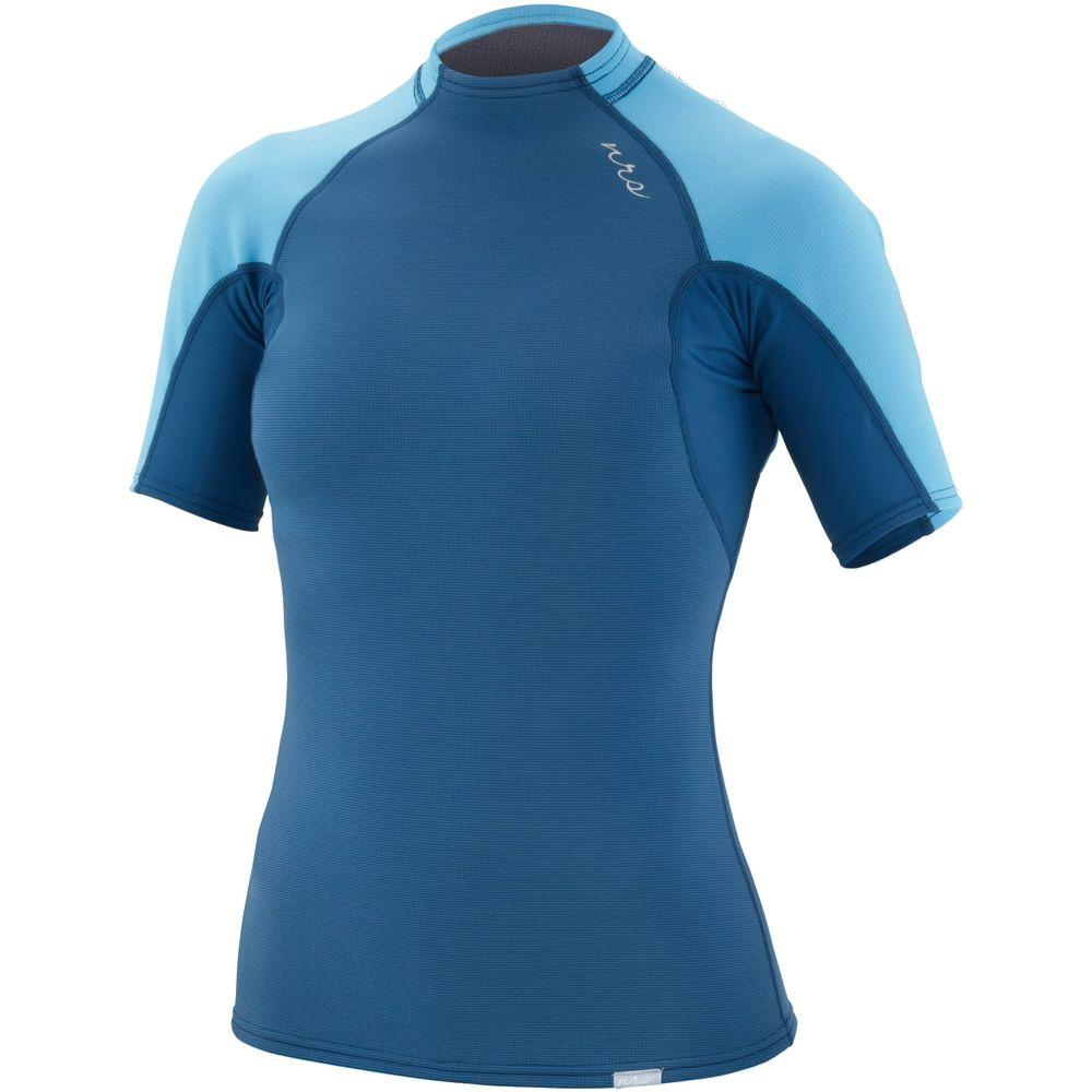 NRS Women's HydroSkin Short Sleeve Shirt neoprene shirt poseidon