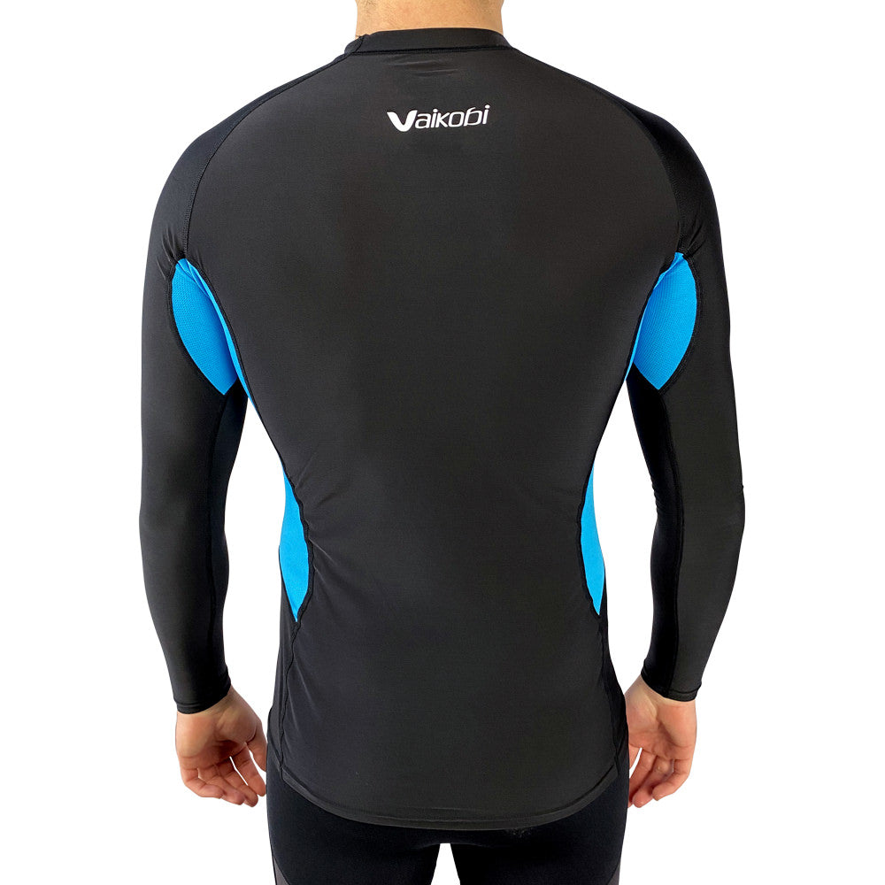 Vaikobi V Cold Performance Base layer top black-cyan back