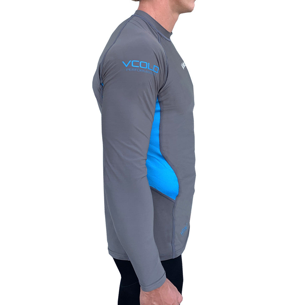 Vaikobi V Cold Performance Base layer top grey-cyan side