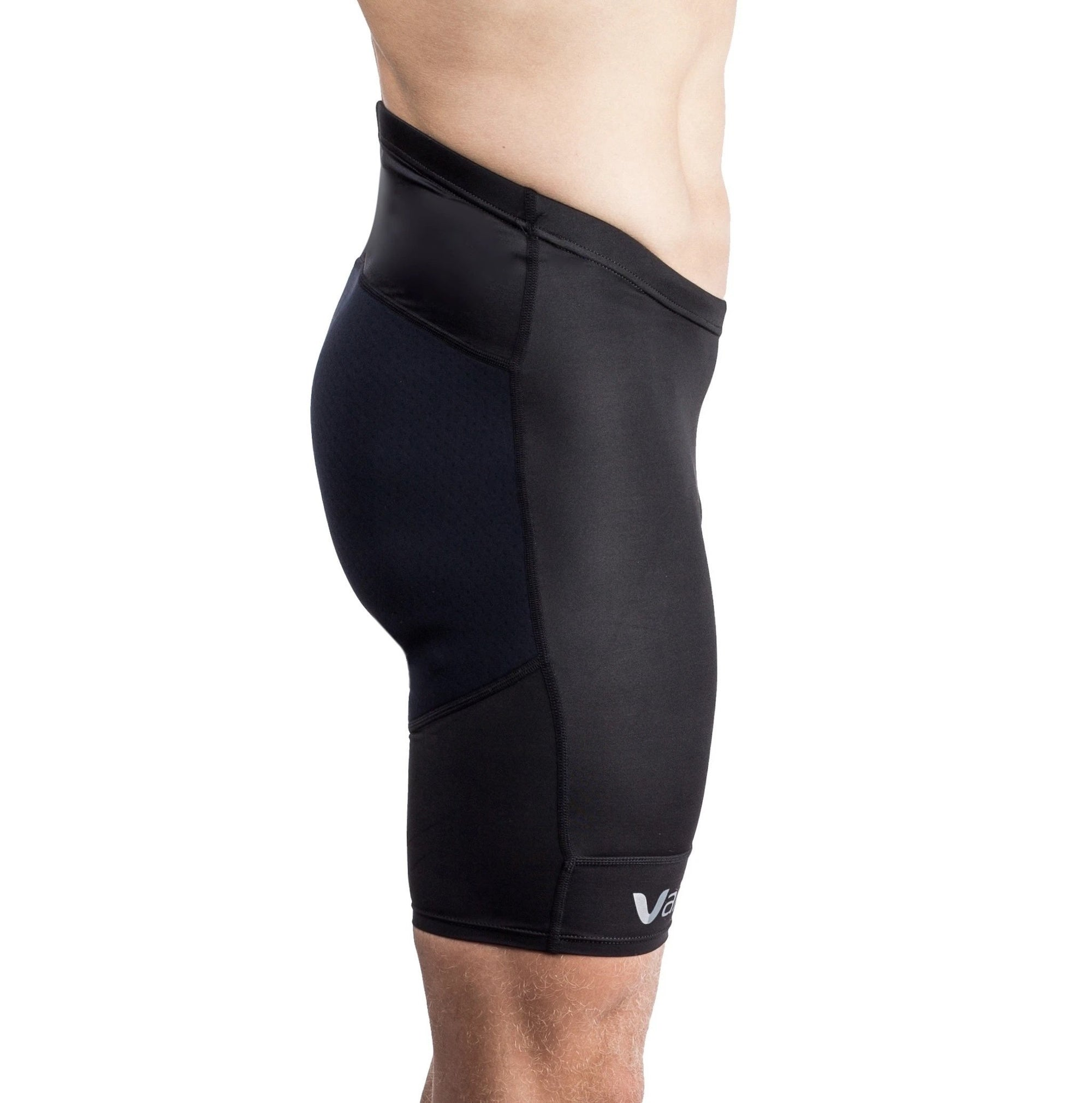 Vaikobi Mens V Ocean Paddle Shorts black front