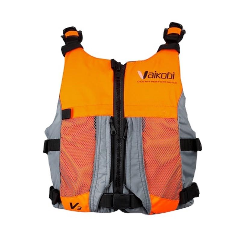 Vaikobi-Hi Vis Ocean Racing PFD-surfski-kayak-sup-life-vest-orange-Dietz