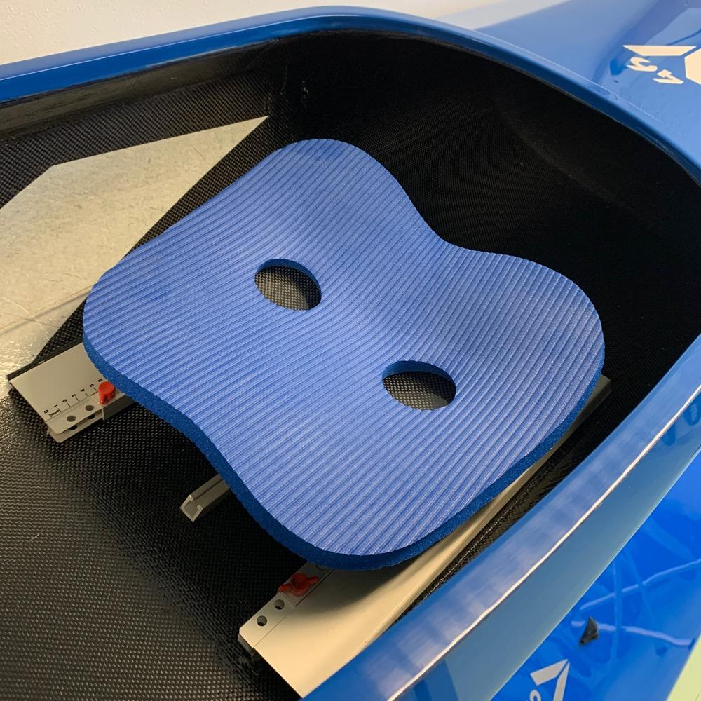 Seatpad Airex 15 mm blue with seat