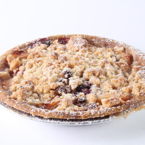 Apple Raspberry Crumble Pie