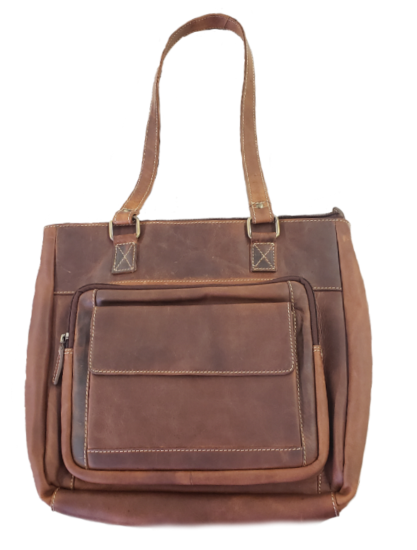 Rugged Earth Leather Hand Bag