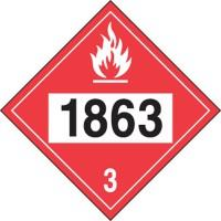 Aviation Fuel 1863 Plastic Sign: Hazard Class 3