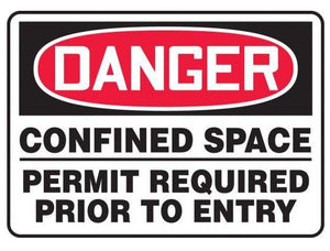 Danger Confined Space Aluminum Sign | Canada | ruggednorth.ca