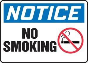 Notice No Smoking Aluminum Sign