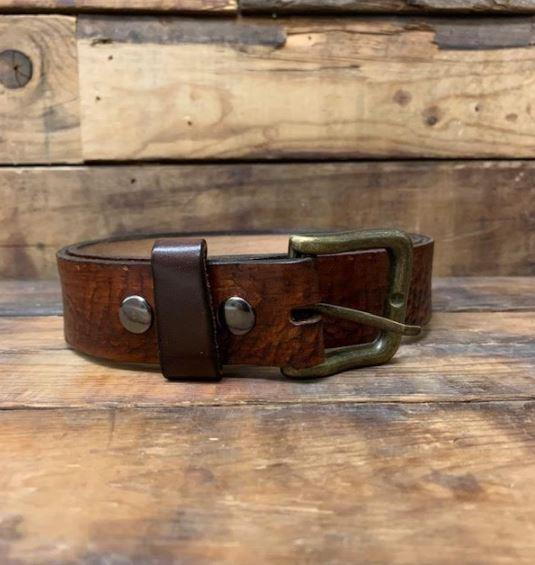 Rugged Earth Leather Belt