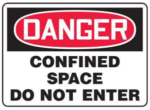 Danger Confined Space Sticker | Canada | ruggednorth.ca