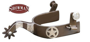 Showman Brown Steel Texas Star Spur | ruggednorth.ca