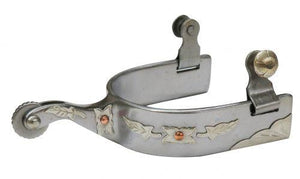 Stainless Steel Spur With Leaf Overlay | ruggednorth.ca