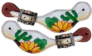 Ladies Sunflower & Cactus Spur Straps | ruggednorth.ca