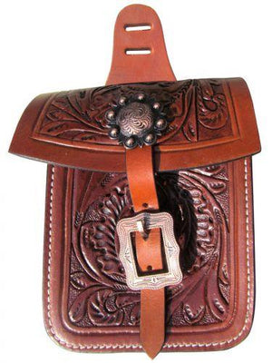 Showman Acorn Tooled Saddle Pocket | ruggednorth.ca