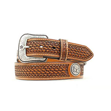 Ariat Mens Basket Stitched Belt