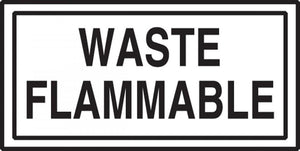 Waste Flammable Sticker | Canada | ruggednorth.ca