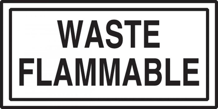 Waste Flammable Sticker
