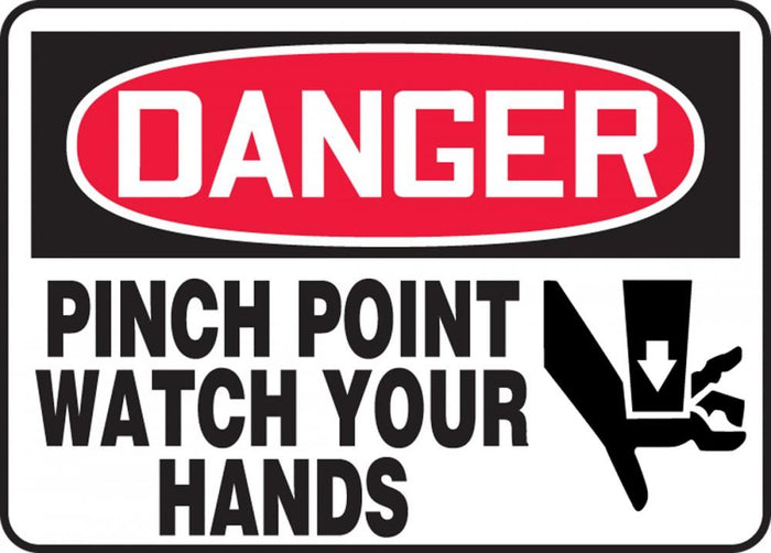Danger Pinch Point Sticker