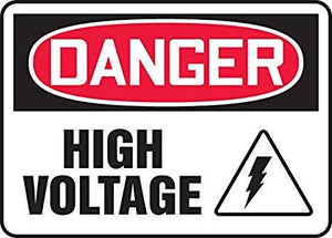 Danger High Voltage Plastic Sign | Canada | ruggednorth.ca