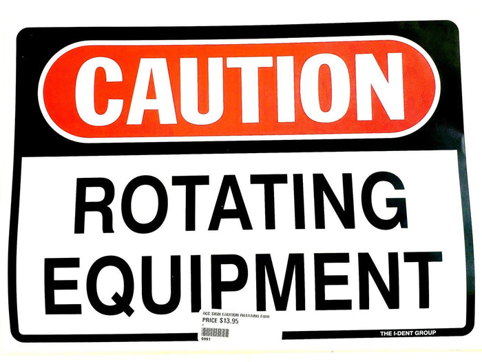 Caution Rotating Equipment Sticker
