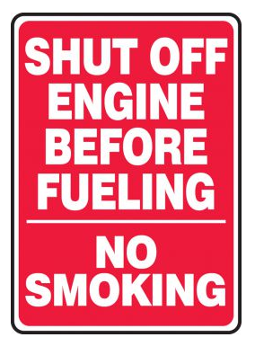 Shut Off Engine Before Fueling / No Smoking Aluminum Sign | Canada | ruggednorth.ca