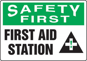 Safety First First Aid Station Sticker | Canada | ruggednorth.ca