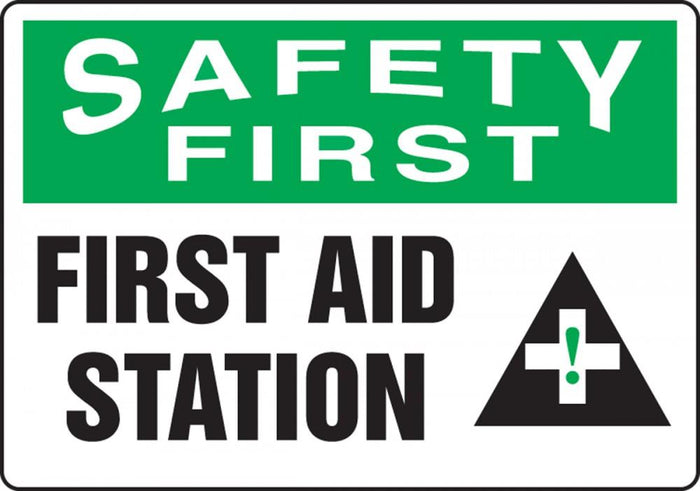 Safety First First Aid Station Sticker