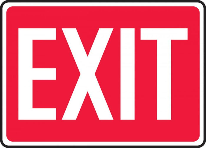 Exit Plastic Sign