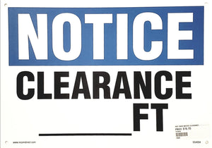 Notice Clearance __ Ft Plastic Sign | Canada | ruggednorth.ca