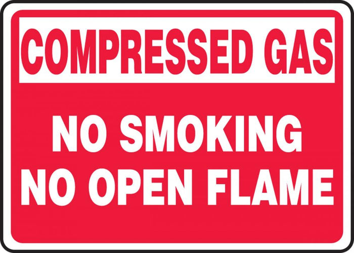 Compressed Gas Aluminum Sign