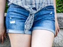 Load image into Gallery viewer, Mid Rise Denim Shorts
