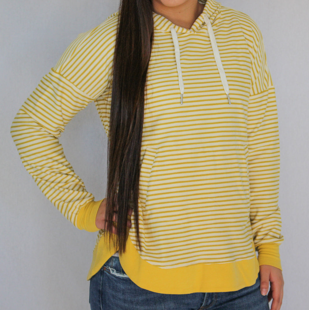 Lemon Striped Hoodie