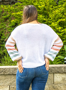 Rainbow Sleeve Sweater