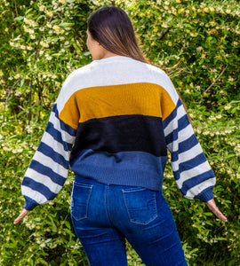 Knit Color Block Sweater
