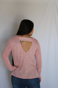 Knit Cut-Out Back Top
